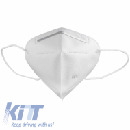 KN95 White Triangle Face Mask 5 Layers Unisex Disposable with Bending Metal Strip - MASK95PING
