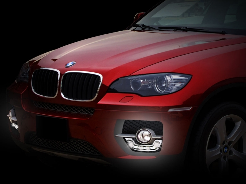 Red Edition Car Mats To Fit BMW X6 E71 2009-2014 Logos