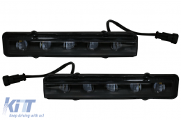 LED DRL Black Daytime Running Lights suitable for MERCEDES Benz G-Class W463 (1989-up) G65 A-Design Black - DRLMBW463B