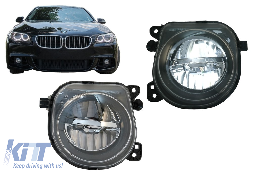 Led Fog Light Projectors Suitable For Bmw 5 Series F07 F10 F11 F18 Lci 2014 Up Facelift M Tech M Sport Carpartstuning Com