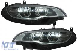 LED Headlights Angel Eyes suitable for BMW X6 E71 (2008-2012) - HLBME71LED