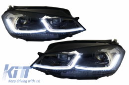 LED Headlights suitable for VW Golf 7 VII (2012-2017) Facelift G7.5 R Line Look with Sequential Dynamic Turning Lights
