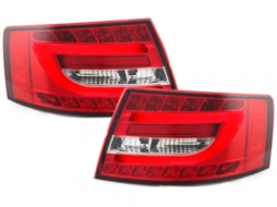 LED Light Bar Taillights Audi A6 Limousine 04-08 Red/crystal - RA19SLRC