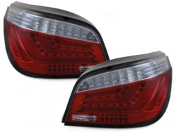 LED-Lightbar Taillights BMW E60 5ER 04-07 Red / Smoke