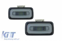 Led Rear Bumper Fog Lamp Light Bar suitable for MERCEDES Benz G-class W463 (1989-2015) Smoke