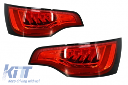 LED Taillights Audi Q7 Facelift (2006-2014) Red Black