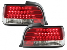 LED taillights BMW E36 Coupe 92-98 _ red/crystal - RB02LRC