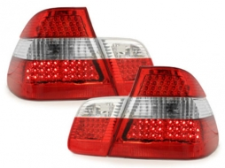 LED taillights BMW E46 4D 98-01 _ red/crystal