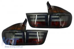 LED Taillights BMW X5 E70 (2007-2010) Light Bar LCI Facelift Look Smoke - TLBME70S/LDBME3