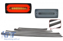 Led Taillights Light Bar Smoke Door Moldings AMG Carbon suitable for MERCEDES G-class W463 89-15 - COTLMBW463LBSDMC