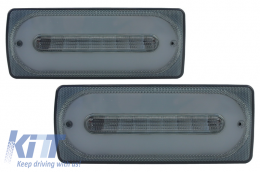 Led Taillights Light Bar suitable for MERCEDES Benz G-class W463 (1989-2015) Smoke - TLMBW463LBS