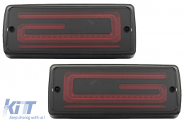 LED Taillights Light Bar suitable for Mercedes G-Class W463 (2008-2017) Facelift 2018 Design Dynamic Sequential Turning Lights Dynamic Start Up Smoke - TLMBW463LBNL