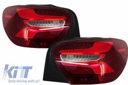 LED Taillights Mercedes Benz A-Class W176 Facelift (2015-up) Red Clear