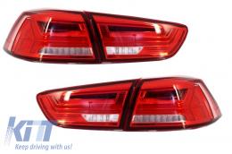 LED Taillights Mitsubishi Lancer 08+ / EVO X 08 + Flowing Dynamic Turning Light