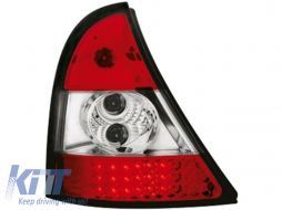 LED taillights Renault Clio II 98-01 _ red/crystal - RR01LRC