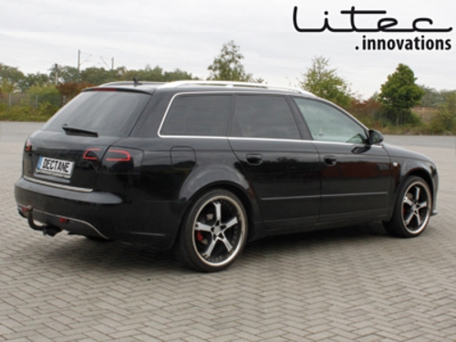 Led Taillights Suitable For Audi A4 Avant B7 04 08 Black Smoke