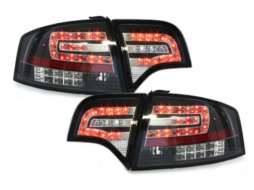 LED taillights suitable for AUDI A4 B7 Lim.04-08 _LED indicators_black - RA12SLBL
