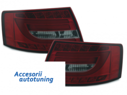 LED Taillights suitable for AUDI A6 Limousine 04-08 Red/Smoke