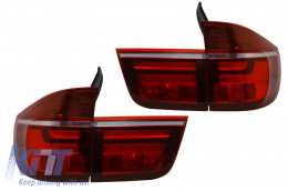 LED Taillights suitable for BMW X5 E70 (2007-2010) Light Bar LCI Facelift Design