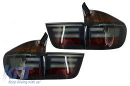 LED Taillights suitable for BMW X5 E70 (2007-2010) Light Bar LCI Facelift Look Smoke - TLBME70S/LDBME3