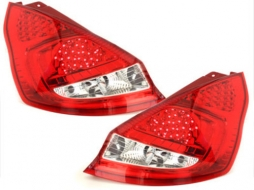 LED taillights suitable for FORD Fiesta MK 7  08+  5D _ red/crystal