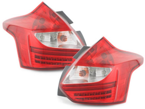 CLEAR LED REAR TAIL LIGHTS LAMPS WITH LIGHTBAR FOR FORD FIESTA MK6 MK 6 2008 ON