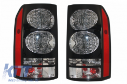 LED Taillights suitable for Land ROVER Discovery III 3 & IV 4 (2004-2009) (2009-2016) Black Conversion to Facelift Look