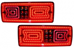 Led Taillights suitable for MERCEDES Benz G-class W463 (1989-2015) Red/Smoke - TLMBW463RSL