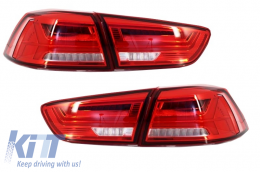 LED Taillights suitable for MITSUBISHI Lancer 08+ / EVO X 08 + Flowing Dynamic Turning Light