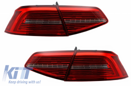 LED Taillights suitable for VW Passat B8 3G (2015-2019) Limousine Matrix R line with Sequential Dynamic Turning Lights - TLVWPA3G