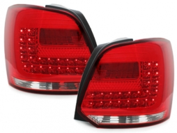 LED Taillights suitable for VW Polo 6R (2009-2014) Red/Clear