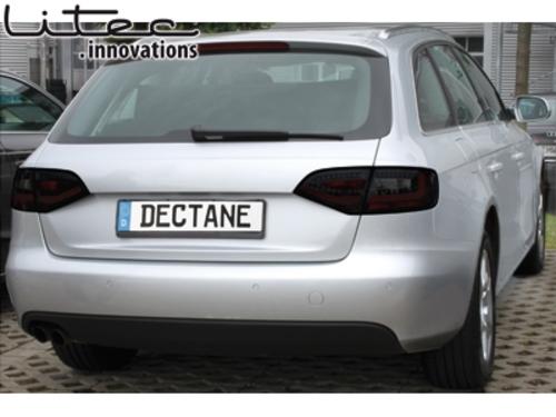 Litec Led Taillights Suitable For Audi A4 B8 8k Avant Black Smoke