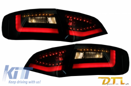 Litec LED Taillights suitable for AUDI A4 B8 Avant (2008-2011) Black/Smoke with Dynamic Sequential Turning Light - RA14KLBSY