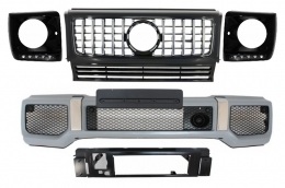 Mercedes Benz G-Class W463 (1989-2012) Front Bumper Assembly G65 AMG Look with Grille G63 GT-R Panamericana Design - COFBMBW463AMGGTRHBB