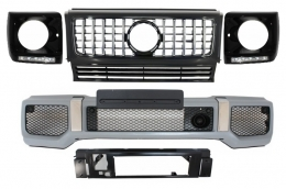 Mercedes Benz G-Class W463 (1989-2012) Front Bumper Assembly G65 AMG Look with Grille G63 GT-R Panamericana Design - COFBMBW463AMGGTRHBC
