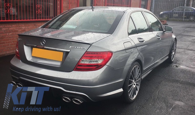 Mercedes c class w204 c204 facelift 2007 2015 c63 amg for Mercedes benz c300 body kit