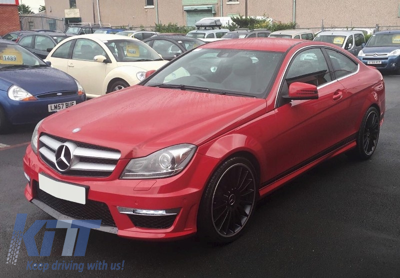 Mercedes c class w204 c204 facelift c63 amg body kit for Mercedes benz c300 body kit