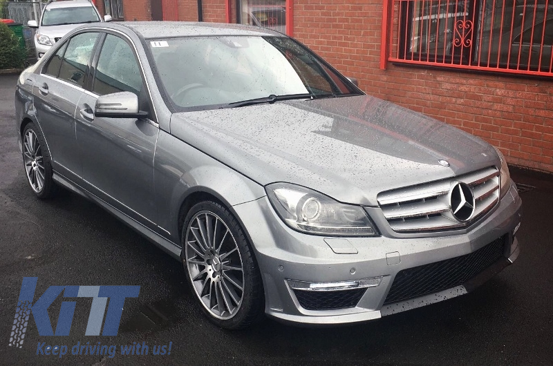 Mercedes C Class W204 C204 Facelift C63 Amg Body Kit