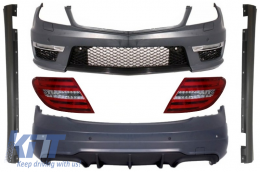 Mercedes C-Class W204 C204 Facelift C63 AMG Body Kit with LED Taillights