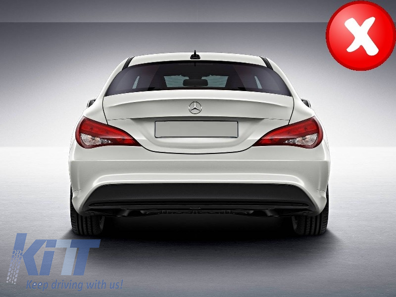 mercedes w117 cla 2013 up amg sport pack rear diffuser exhaust tips tailpipe package black. Black Bedroom Furniture Sets. Home Design Ideas