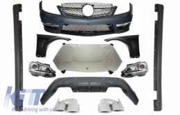 Mercedes W204 (2007-2014) C-class Facelift C63 AMG Design Complete Conversion Retrofit Body Kit with Xenon Facelift Headlights