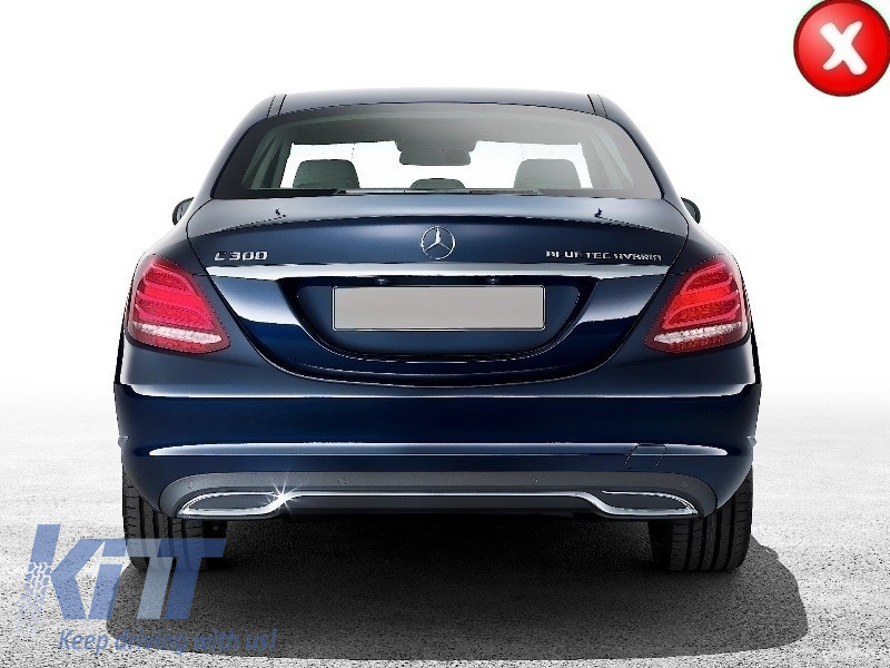 mercedes w205 s205 2014 c class amg c63 sport pack rear. Black Bedroom Furniture Sets. Home Design Ideas