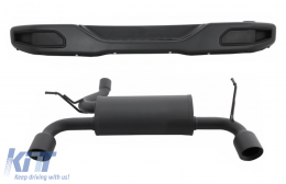 Metal Rear Bumper with Complete Exhaust System Axle-Back suitable for JEEP Wrangler / Rubicon JK (2007-2017) Double Exhaust Evacuation - COCBRBJEWJK