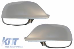 Mirror Caps Covers Extinction Aluminium suitable for AUDI Q5 / SQ5 8R (11/2008-2016) Q7 / SQ7 4L facelift (06/2009-08/2015) - MCAUQ58R