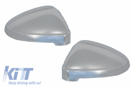Mirror Covers suitable for Audi A4 B9 (2016-) Extinction Aluminium Plated Complete Housing With Side Assist - MCAUA4B9SA
