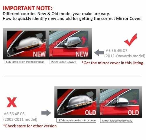 Mirror Covers suitable for Audi A6 4G C7 (2011-2014) Limousine Avant  Complete Housing Extinction Aluminium RS6 Design