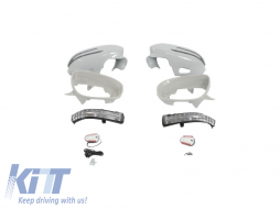 Mirror covers suitable for  Mercedes S-Class W221 (05-08), CLS-Class W219 (04-10)  - MCW221219