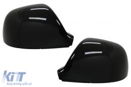 Mirror Covers suitable for VW Amarok (2010-2020) Transporter Multivan T5 Facelift (2010-2015) Transporter T6 (2016-2018) Piano Black - MCVWAMK