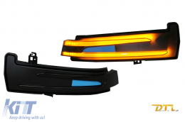Mirror Dinamic LED Turn Signal Light suitable for Mercedes A-Class W176 B-Class W246 C-Class W204 C204 CL W216 CLS C218 E-Class W212 S212 C207 GLK X204 S-Class W221 Smoke - TRLMBW204
