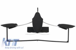 Multifunctional Detachable Car Coat Hanger Headrest and Foldable Black - UNIVERSALCHB
